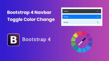 Bootstrap 4 navbar toggle color change